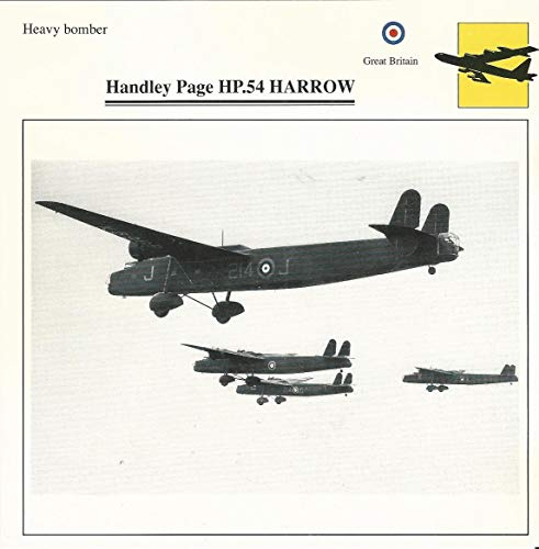 1990 Edito-Service, War Planes Cards, Airplanes, 43.03 Handley Page HP-54
