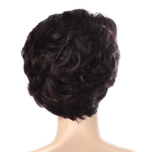 SHKY Pelucas marrones oscuras cortas - pelucas marrones chinas naturales y elegantes con las explosiones, pelucas de la alta calidad: Amazon.es: Deportes y ...