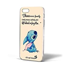 lilo and stitch ohana quote For iPhone Case (iPhone 5/5s White)