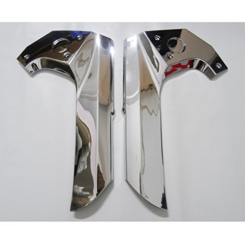 Chrome Plated Fairing (Wotefusi Motorcycle New 2 Pieces Pair ABS Chrome Plated Frame Center Cover Protector Decoration Molding Trims For Honda GL1800 Goldwing 2006-2011 2007 2008 2009 2010)