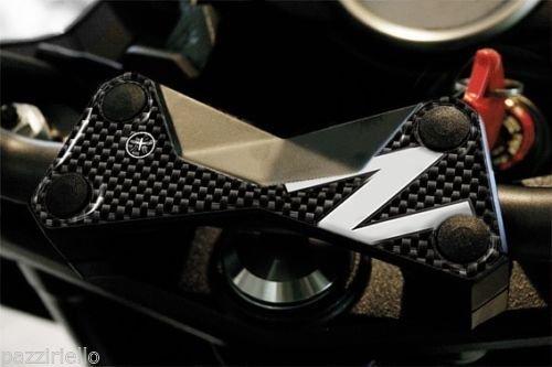 Spatbord voor vork, compatibel met Moto Kawasaki Z750 Z1000, carbon, wit