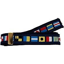 Nautical Code Flag Military Style Belt, Navy Web Belt (NO buckle)