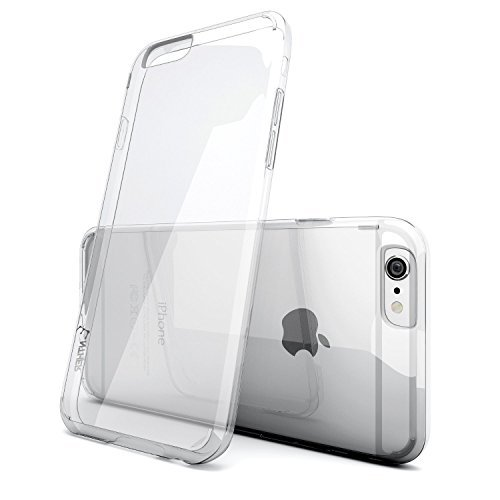 iPhone 6s Plus Case, Enther [Ultimate Cushion] Slim Scratch / Dust Proof Hybrid Transparent Clear Case with Shock Absorb Trim Bumper - Authentic Retail Packaging - for iPhone 6 6s Plus