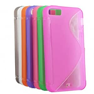 New Soft Plastic S Line Grain Protective Case Cover For iPhone 5 5G 5S --- Color:pink