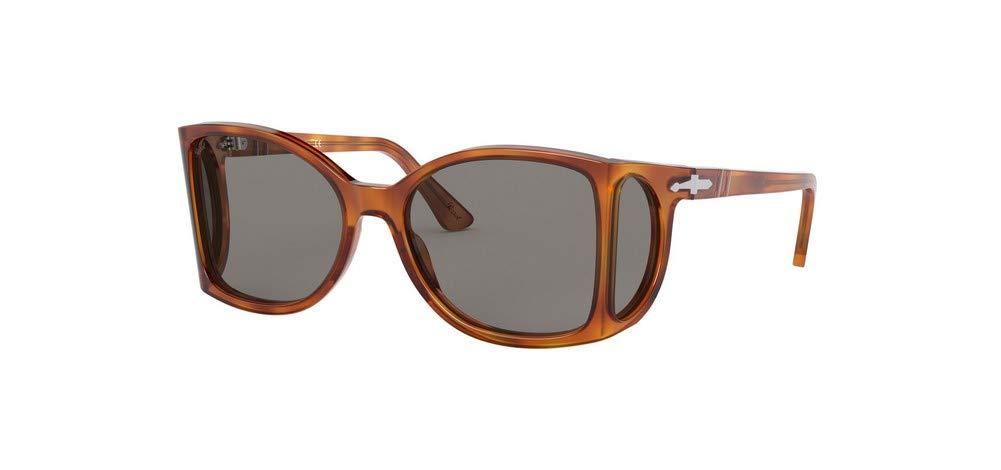 ویکالا · خرید  اصل اورجینال · خرید از آمازون · Persol PO0005 Sunglasses 96/R5 Terra Di Siena/Gray Lens 54mm wekala · ویکالا