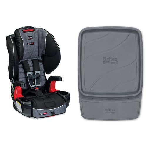 Britax Frontier G1.1 Clicktight Harness-2-Booster Car Seat, Vibe and Vehicle Seat Protector