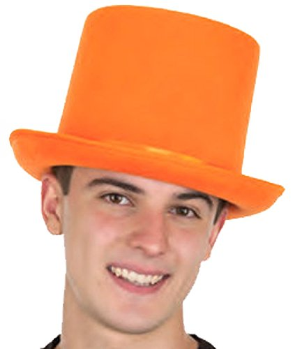 Jacobson Hat Co., Inc. Dumb and Dumber Style Orange Felt Top Hat Adult Tuxedo Costume Accessory Prom,One Size -