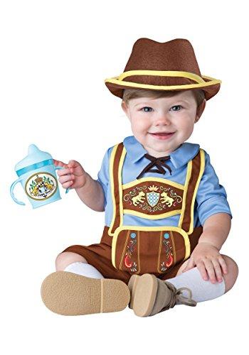 Oktoberfest Germany Costumes (InCharacter Costumes Baby Boys' Little Lederhosen Costume, Blue/Brown,)