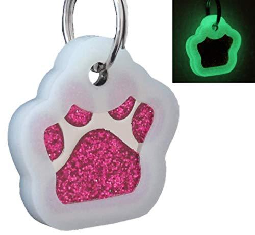 laser engraving glitter paw pet