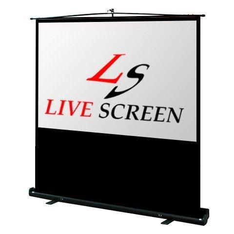 LIVE SCREEN (自立式) 16:9 100インチ プロジェクタースクリーン 床置き型携帯ロールスクリーン B01FKGYLEE