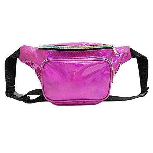 Waist Red Zipper Domybest Pouch Chest Shoulder Pack Women Bags Crossbody Rose SwwYq7A1x