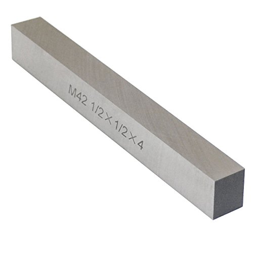 M42 1/2'' x 1/2'' x 4'' Cobalt Steel Square Tool Bit Lathe Fly Cutter Mill Blank (Lathe Steel)
