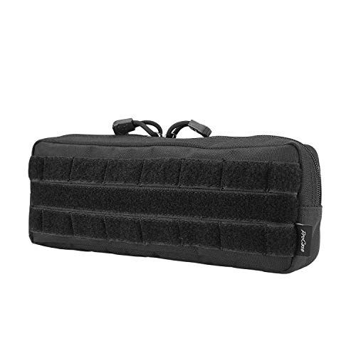 ProCase Tactical Admin Pouch, Versatile Molle Admin Pouch EDC Carry Bag Multi-Purpose Tool Holder for Magazine, Map and Other Small Tools -Black