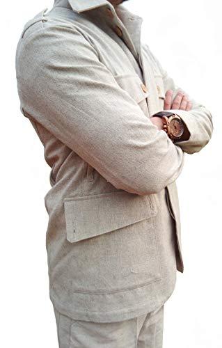 Hemp Jacket Hemp Clothing Hemp Overwatch Jacket Hemp Fashion Eco Clothes Designer Jacket (S) ()