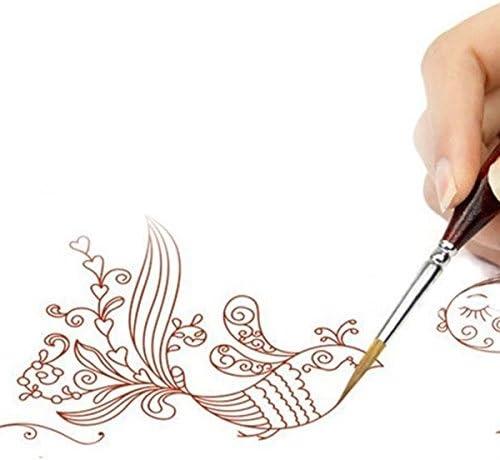 aquarelle ensemble de pinceau de peinture au detail Sandis 6 pieces Pinceaux fins huile pour acrylique