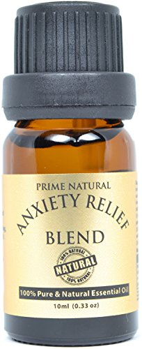 - Anxiety Relief Essential Oil Blend 10ml - 100% Natural Pure Undiluted Therapeutic Grade for Aromatherapy, Scents & Diffuser - Depression, Stress Relief, Relaxation, Boost Mood, Uplifting, Calming