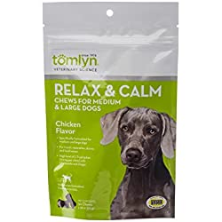 Tomlyn Relax and Calm Chews for Medium and Large Dogs, 30ct.