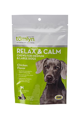 Tomlyn Relax and Calm Chews for Medium and Large Dogs, 30ct. by Tom Lyn
