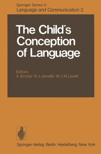The Child's Conception of Language (Springer Series in Language and Communication) by Brand: Springer