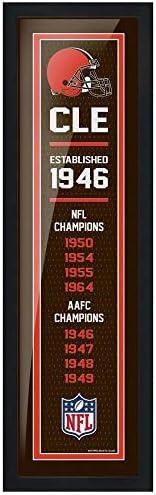 Cleveland Browns 6x22 Team Empire Framed Artwork