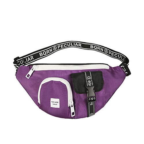 (HongMong Unisex Outdoor Students Sport Canvas Crossbody Bag Chest Bag Phone Bag)