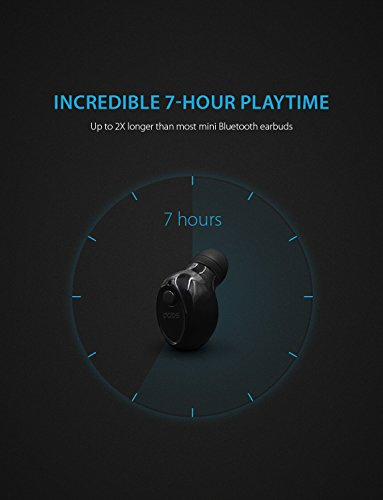 Bluetooth Earbud DABS AUDIO S10, Mini Wireless Headset, Smallest and Invisible in-Ear Earphone with Mic for Hands-Free Calling, Secure Fit, 7 Hour Battery