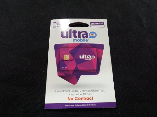 Ultra Mobile Sim Card with Starter Kit - Dual Cut Micro and Regular