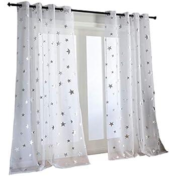 Amazon Com Wpkira Window Treatments Short Curtains
