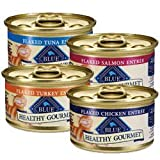 Blue Buffalo Healthy Gourmet Flaked Entree Variety Pack Canned Cat Food, My Pet Supplies