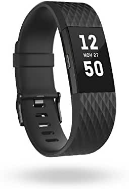 Fitbit Charge 2 Heart Rate + Fitness Wristband, Special Edition, Gunmetal, Large (International Version)