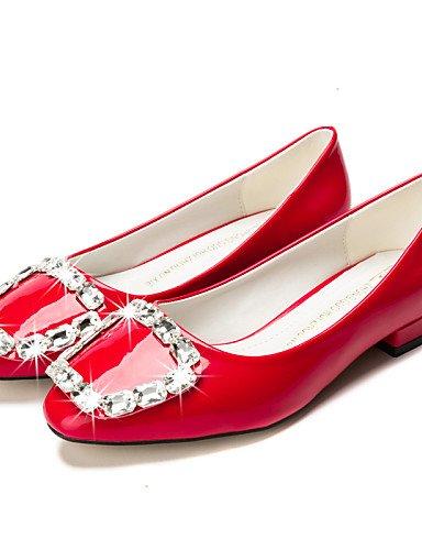 PDX/ Damenschuhe-Ballerinas-Kleid / Lässig-Kunstleder-Blockabsatz-Mokassin / Spitzschuh / Geschlossene Zehe-Schwarz / Rot / Mandelfarben , almond-us8.5 / eu39 / uk6.5 / cn40 , almond-us8.5 / eu39 / uk