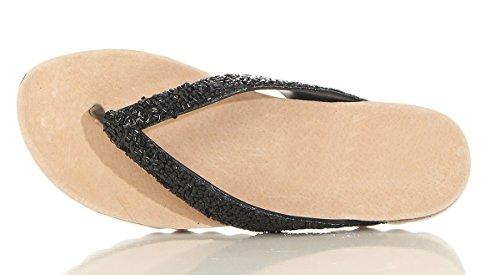 Tongs Paillettes Cleostyle Bain De Sandales Chaussures Mocassins 34 Femmes Cl Noir 5wxpwBRq1