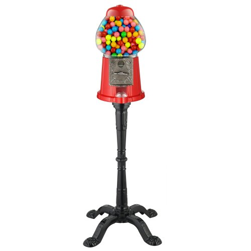 Great Northern 6260 Gumball Machine 15 W ST Vintage Candy Gumball Machine and Bank with Stand, Everyone Loves (Classic Gumball)