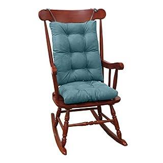 "Klear Vu Twillo Overstuffed Rocking Chair Set, Seat and Seatback Cushions, 17"" x 17"", Marine"