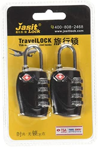 TSA Approved Luggage Locks, Suitcase Lock [2 Pack] CFMOUR 4-Digit Security Combination Padlock for Travel Luggage Suitcase Backpack Bag Case Code Padlocks – Black