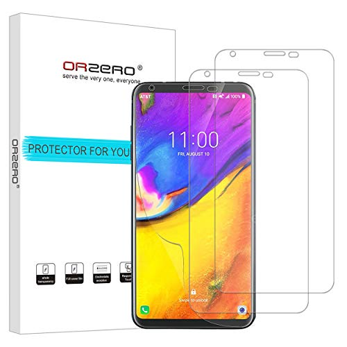 [3 Pack] Orzero for LG V35 ThinQ (at&T) HD Screen Protector, High Definition Anti-Scratch Bubble-Free [Lifetime Replacement Warranty]