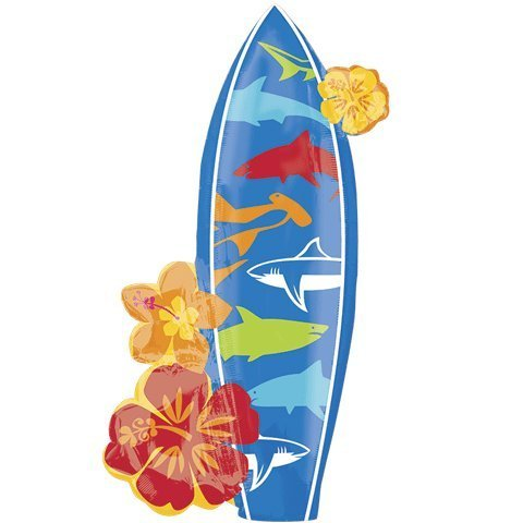 Surfboard Super Shape Mylar Party Balloon ()