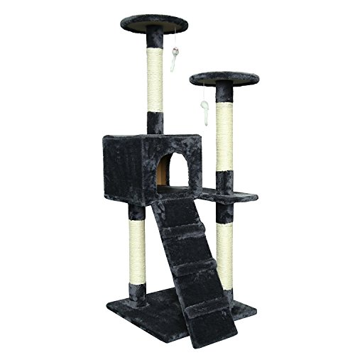 Toco 50 Inch Cat Tree Tower House With Condo Scratching
