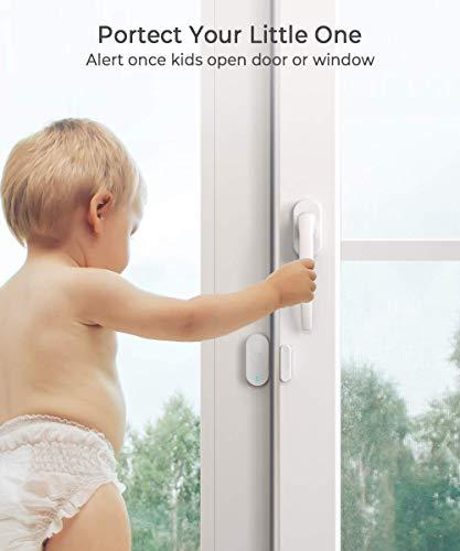 Govee Door Open Chime Upgraded, 1 Magnetic Door Entry Alert Security Contact Sensor, 1 Wireless Doorbell Plugin Receiver(330 Feet, 36 Tunes, 5 Volume Levels, LED Indicators)