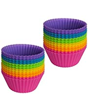 Silicone Cupcake Liners 2 ×2.75× 1.29 inches, Nonstick/Heat Resistant/Reusable Silicone Muffin Baking Cups Silicone Jelly Molds