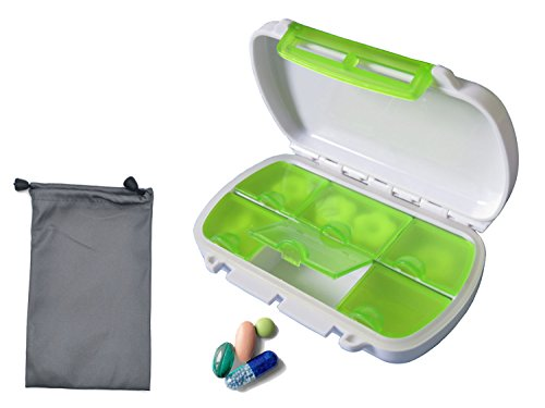 Pill case Pill Organizer Water Proof Pill Box with Wather Resistant Bag