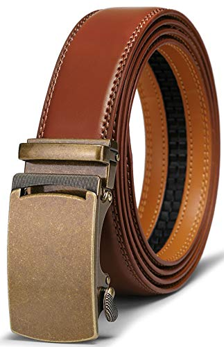 Men's Belt,Bulliant Slide Ratchet Belt for Men with Genuine Leather 1 3/8,Trim to Fit