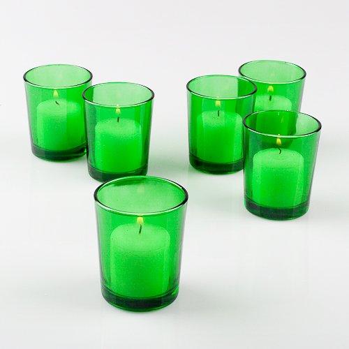 Frosted Tealight Holder Glass (Set of 12 Eastland Votive Holders (Green Votive Holder))