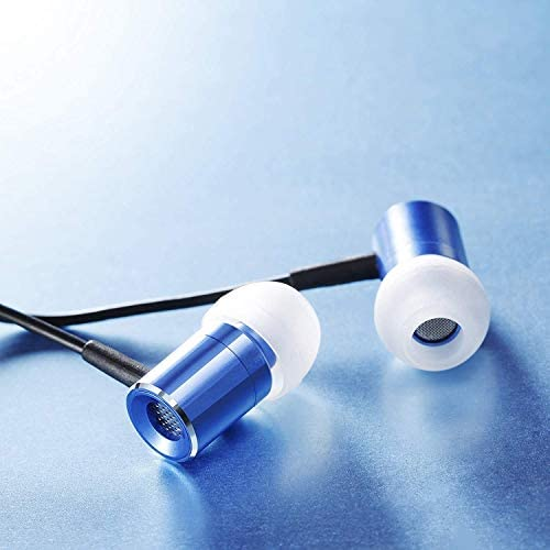 CSL - Glare Blue In-Ear Earphones - Stereo Headphones with EP Power Bass -8mm transducer - high wearing comfort - Noise Reduction Design -blue
