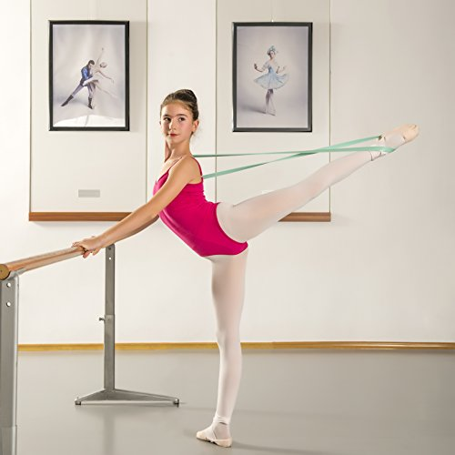 Ballet Stretch Band by Arragma | Flexibility-Improving Latex Resistance Band for Dance and Gymnastics with Storage Bag + Sterling Silver Ballerina Pendant by Arragma (Image #6)