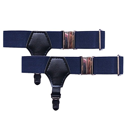 NAVA Navy Blue Pin Sock Garters Mens Womens Sock Suspender Accessories (Pin Navy Sexy)