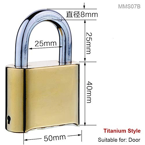 MMS07B Waterproof RustProof Brass Large Password Lock Warehouse Cabinet Wardrobe Door Lock Ferramentas Outdoor Fence Large Padlock  (color  MMS07D)