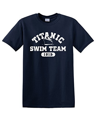 Thread Science Titanic Swim Team Sports History Facts Navy Sarcasm Sarcastic Ocean Cruise Boat Funny Men's Adult Graphic Tee Humor Pun T-Shirt Apparel (Small) -