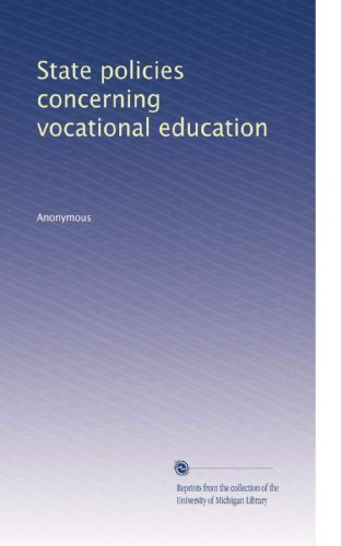 State policies concerning vocational education
