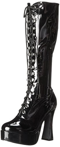 Ellie Shoes Women's 557-Gina Snow Boot, Black Patent, 8 M - Black Inch Sexy 5 Boot